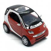 Alrico Bilar 1:43 Cars 139 metall City Licens 6.Smart for Two Red