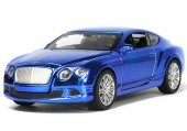 VN Cars 1:32 Bilar metall 13cm Bentley Continental GT Blå 65