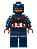 lego Figur Superheroes Captain America Detailed Suit Mask SHE 12