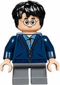 Lego Harry Potter Figur Harry Potter Dark Blue Zip Up LF52 - 23