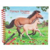 Horses Dreams - Häst - Målarbok Pocket 15x13 cm med stickers