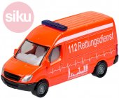 Leksaksbilar Bilar Cars SIKU Micki Metall Ambulans Neon Orange 0805