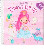 Pyssel bok Dress me up 140st Stickers Princess Mimi Ljusrosa 2020