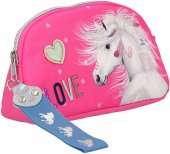 Dinotoys Miss Melody pyssel Häst Make up bag sminkväska 20cm Rosa