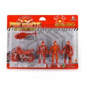 Robetoy Figurer Collection Fire Resque Set Brand Brandmän 62612