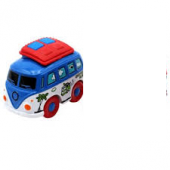 Robetoy Cars Bilar Cartoon Travel Buss Metall 61988 Blå GAR