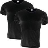 T-Shirt Tröja For Men Män 2-Pack Svarta Stl Large (L)