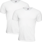 T-Shirt Tröja For Men Män 2-Pack Vita Stl Large (L)