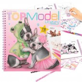 Top Model Pyssel bok Doggy Hund Hundar + 118st stickers rosa