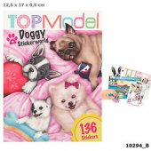 Top Model Pyssel bok Doggy Hund Sticker World med 136st stickers