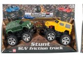 VN Bilar Monster Friktions SUV Trucks 2-Pack Gu Grön Rest 1