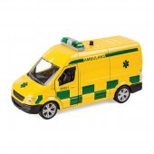 Resque Team - Gul Ambulans Van Light & Sounds 12cm