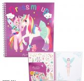 Minimoomi Ylvi - Pyssel bok Dress me up + 492st Stickers