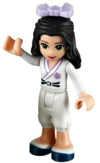 Lego Friends - Emma Vit White Karate LF21-17