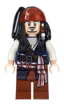 Lego Figur Pirates Of The Caribbean Jack Sparrow LF20-3