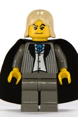 Lego Figurer Harry Potter Lucius Malfoy Grå Klassisk