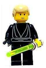 Lego Figurer Star Wars Luke Jedi svart klassisk