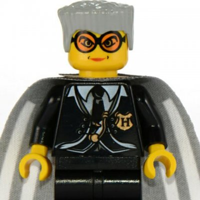 Lego Figurer Harry Potter Madame Hooch Svart klassisk