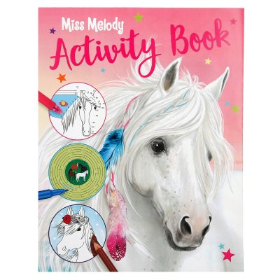 Miss Melody Häst Pyssel Pysselbok Activity Book 27x22 cm rosa