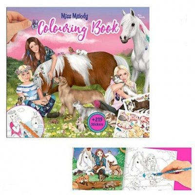 Miss Melody pyssel Häst Colouring Book Målarbok + 219 stickers