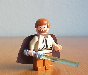 Lego Figurer Star Wars Obi Wan 7255 Orange Kort hår