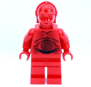 Lego Figurer Star Wars R-3PO (C-3PO red) röd