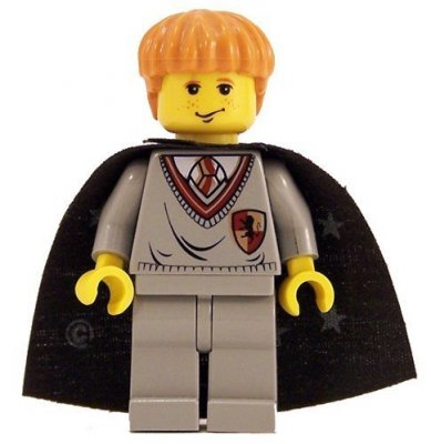 Lego Figurer Harry Potter Ron Grå Klassisk