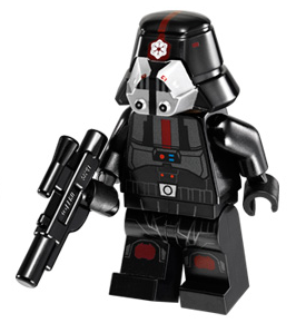 Lego star wars Figur Sith Trooper Svart 75001 LF51-73