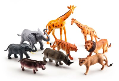 Vn Lek Wild Animals Safari Elefant Giraff lejon Tiger mm Set 63678